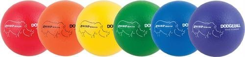 Olympia Sports BA736P Rhino Skin Dodgeballs - 8 in. - Set of 6 Colors by Rhino