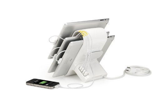 Kanex Sydnee 4-port 2.1A USB Charging Station for iPad, Kindle, Tablets, Smartphones - Snow by Kanex (Image #4)