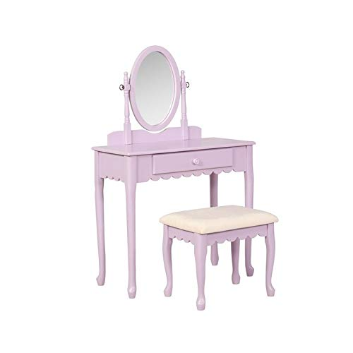 Linon Everly Lilac Youth Vanity Set by Linon