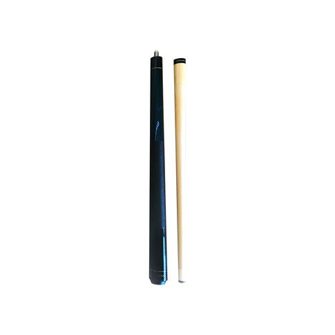 Aska Short Kids Cue Stick, Canadian Hard Rock Maple, 13mm Hard Tip (Blue 36-inches)