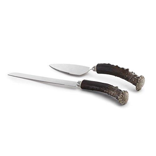 Antler 2 PC Knife & Server Serving Set