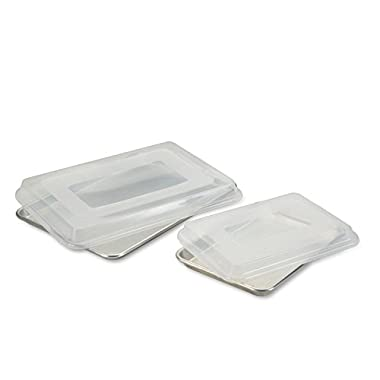 Nordic Ware 4 Piece Bakers Half and Quarter Sheet Combo Pack with Lids