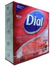 Dial Power Berries Antioxidant Glycerin Bar Soap, 4 Ounce, 10 Bars