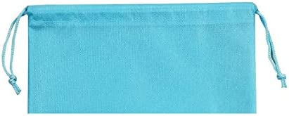 """ANIZER 8 PCS 11.8""""x17.3"""" Non-Woven Dustproof Drawstring Bag Travel Shoe Bags Dust Cover Pouch Bag Storage with Visual Window for Handbags Purses Shoes (Blue)"""