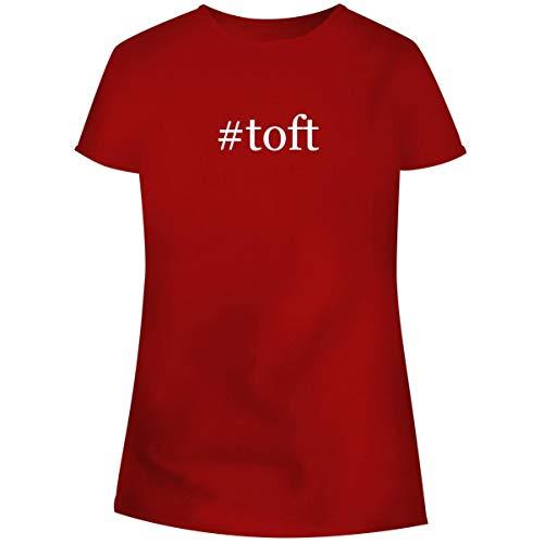 (One Legging it Around #Toft - Hashtag Women's Soft Junior Cut Adult Tee T-Shirt, Red,)