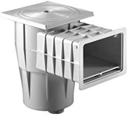 Kripsol Skimmer Piscinas para hormigón boca standard cerco cuadrado ABS blanco