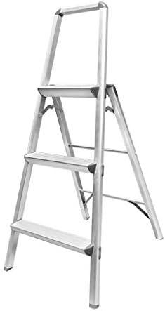 XiuHUa Escalera Taburete Plegable Aluminio Espesamiento del hogar Espiga Decoración Bisagra Proyecto Escalera de Escalada, 80X46X66cm, 122X46X66cm Taburete (Size : 122X46X66cm): Amazon.es: Hogar
