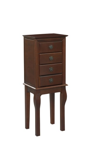 - Linon Home Decor Diamond Espresso Jewelry Armoire