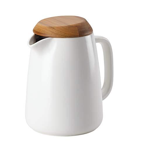 BonJour Wayfarer Ceramic Coffee Pot, 34-Ounce, Matte White