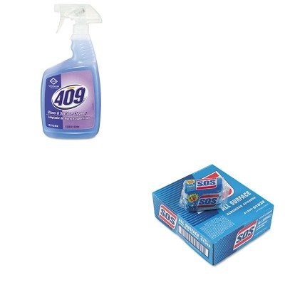 KITCOX35293EACOX91028CT - Value Kit - Clorox Formula 409 Glass amp;amp; Surface Cleaner (COX35293EA) and Clorox All-Surface Scrubbing Sponge (COX91028CT)