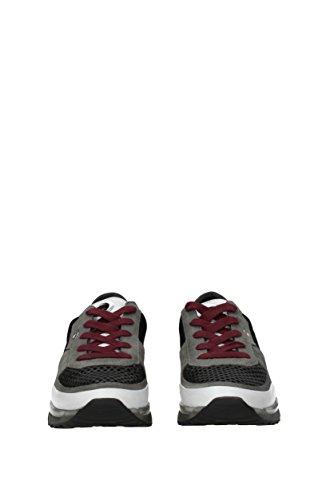 Eu maero Gris Leather Tissu Sneakers Crown Homme x0qF08