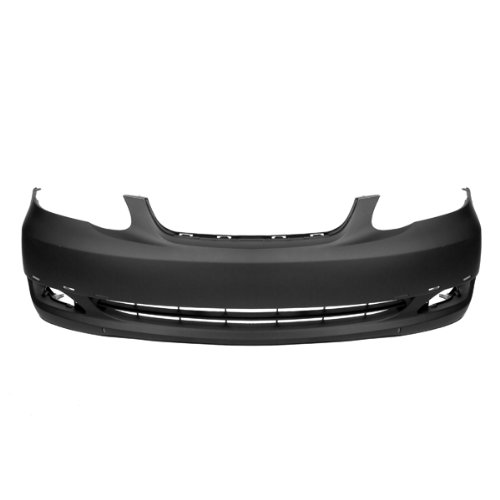 CarPartsDepot 352-44312-10-PM FRONT BUMPER PRIMED BLACK PLASTIC FACIAL COVER SPOILER HOLES TO1000298