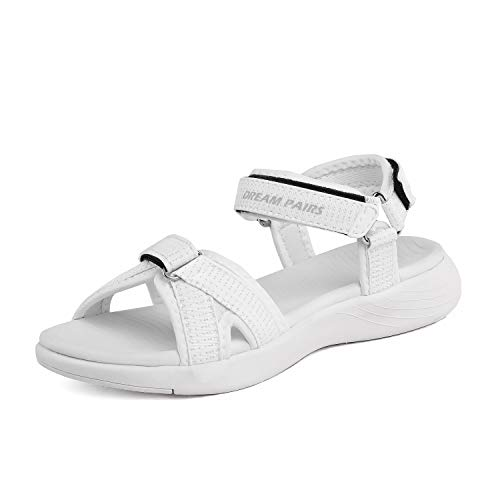 - DREAM PAIRS Women's Athletic Sport Sandals Hiking Sandal White Size 7.5 M US QDL19001L