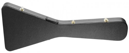 Stagg GCA-FV Basic Flying V Style Guitar Hard Case - Black