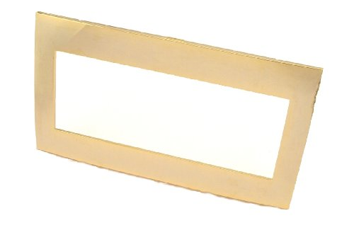 Leviton ACWM4-24K Acenti 4-Gang Wallplate And Alignment Plate, 24K Gold ()
