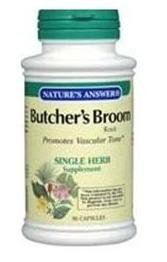(Nature's Answer Butcher's Broom Root - 90 Vegetarian Capsules, Pack of 3 by Nature's)