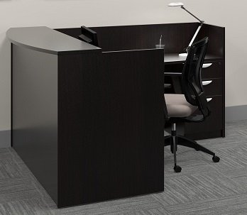 Offices To Go L Shaped Reception Desk W/Transaction Top 71