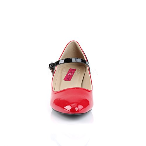 Heels Mary Size Pleaser Big Fab Womens Pink Red Shoes Higher Court black 425 red Black Label Patent Janes 0nxdYwXp