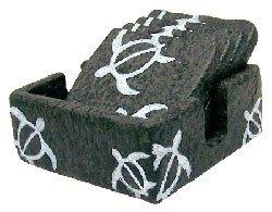 Square Honu Lava Rock Coaster Set of 4 and Holder