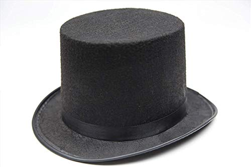 (Wonder Stage Felt Stovepipe Top Hat Black for)