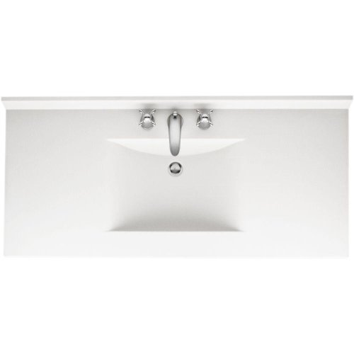Swanstone CV2243-010 Contour 43-Inch Solid Surface Vanity Top with White (22 White Vanity Top)
