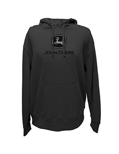 John Deere Logo Hoodie - Men's - Charcoal, X-Large