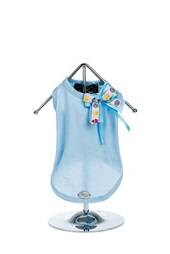 (Trilly tutti Brilli 15-FIORDAL.AZZXS Fiordaliso Tank Top with Satin Bow Blue and Cupcakes Design, XS, Blue)