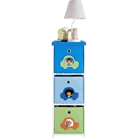 Altra Furniture 3 Bin Kids Storage Unit With Car Theme