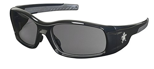 Crews SR112 Swagger Brash Look Polycarbonate Dual Lens Glasses with Polished Black Frame and Gray Lens