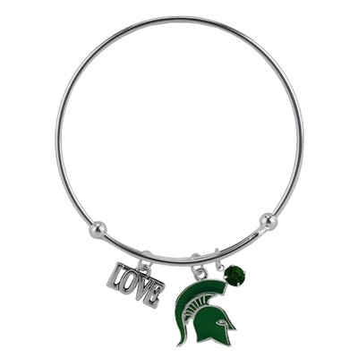 Rosemarie Collections Femme Amour Michigan State Spartans Bracelet