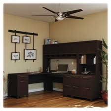Bush Business Furniture Enterprise Collection 60W Double Pedestal Desk in Mocha Cherry