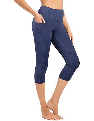 7715ed89 Hopgo Women's Workout Legging Crop Yoga Pants Sports Tights Outer Pocket