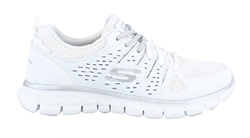 Femme Weiß Synergy Sneakers Skechers Book Look Basses 4PnqpO