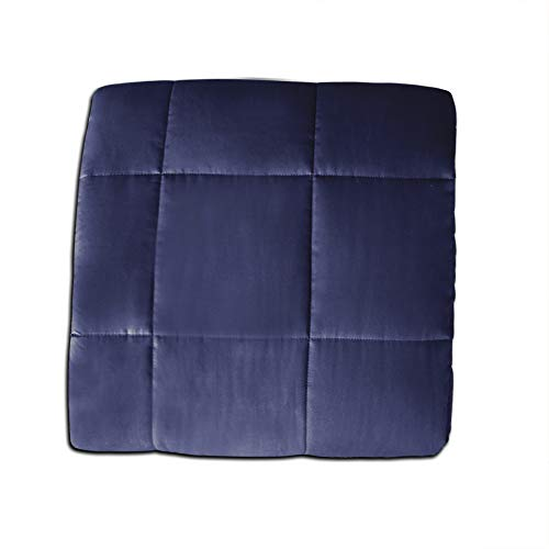 Syrinx Weighted Blanket, 15 lbs, 60 x 80, Navy Blue, Fit Queen Sized Bed, Especially Suitable for Adult Man and Women, Cotton Fabric