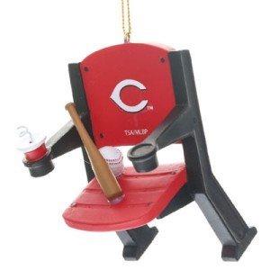 Cincinnati Reds Official MLB 4 inch x 3 inch Stadium Seat Ornament ()