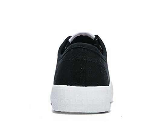 Estudiantes BLACK 36 003cm Diaria De Lona Colores Escuela 1 356cm Tres Clásico Señora 36 Zapatos Zapatos 0 Bottom Simple XIE Ocio Plano Comfortable 1z4Bzx