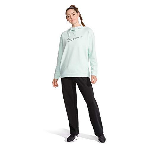 Nike Women's Therma Swoosh Fleece Training Hoodie Igloo/Heather/Obsidian Size XX-Large