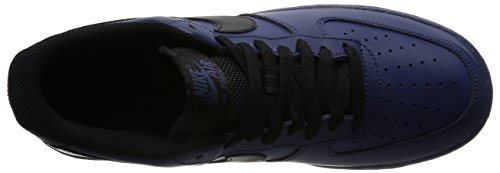 Nike Mens Air Force 1 07 Qs Scarpe Da Basket Binario Blu / Nero