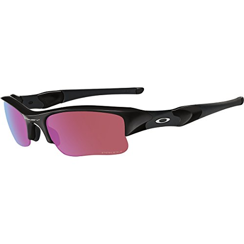 (Oakley Men's Flak Jacket XLJ 24-428 Rectangular Sunglasses, Polished Black, 63 mm)
