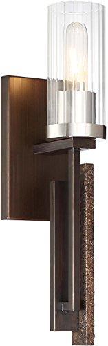 Minka Lavery Torchiere Wall Sconce Lighting 4600-101 Maddox Roe Wall Lamp Fixture, 1-Light Watts, Iron Ore
