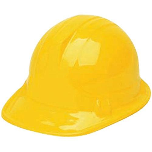 "Plastic Hard Hats For Kids (Children's Dress Up Soft Plastic Construction Hard Hats Accessory for Kids Building Construction Themed Party Favors Toys, Yellow, 12 Pack, 10"" x 5.5"" x 8)"
