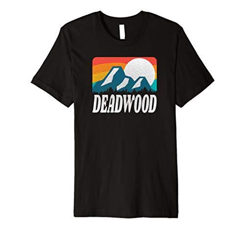Deadwood South Dakota Retro Rainbow Mountain Premium T-Shirt