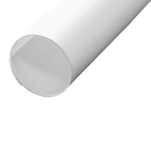 Prime-Line Products MP7163 Closet Rod Covers, 72 in. Lengths, Plastic Construction, White, Adjusts To All Pole Diameters, Pack of 12