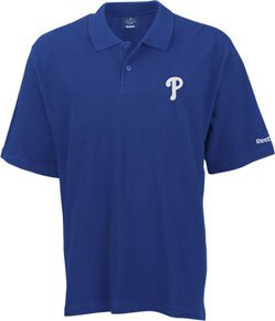 (Reebok Philadelphia Phillies Blue MLB RA Polo Shirt (Small))