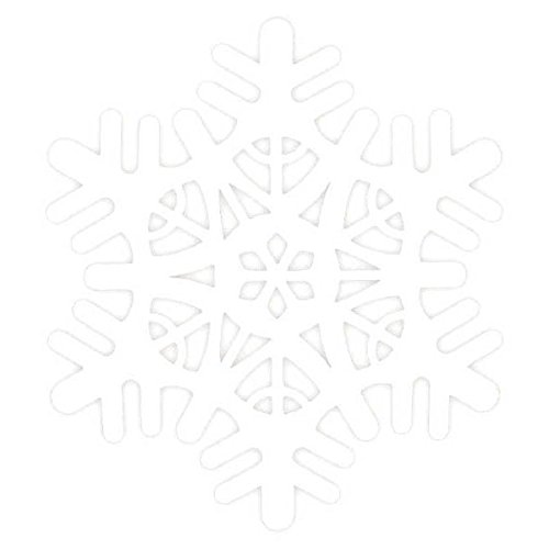 [Amscan Large Foam Snowflake Christmas Decoration, White, 18