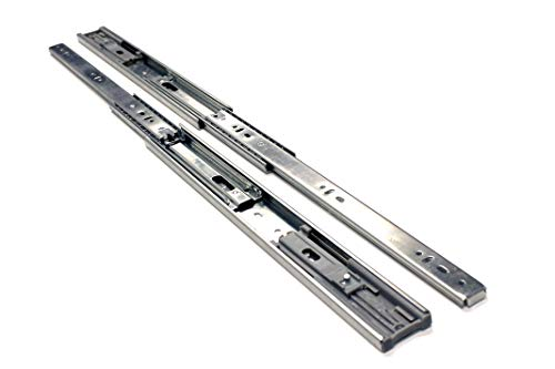 10 Pack Berta Full Extension Soft/Self Close Ball Bearing Side Mount Drawer Slides 16-Inch 100Lb Load Rating (10 Pairs) by Berta (Image #1)