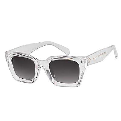 NEW Vintage Oversized Transparent Sunglasses Tortoiseshell Rivet Frame Sun Glasses Shades OM656