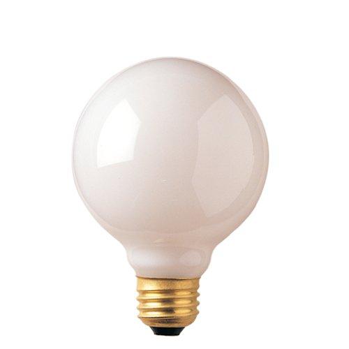 Bulbrite 393002 25G25WH2 25-Watt Incandescent G25 Globe, Medium Base, White (Pack of 48)