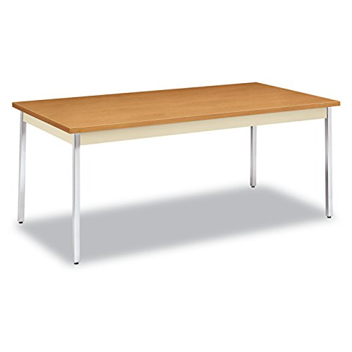 HON Utility Table with Putty and Chrome Leg Finish, 72