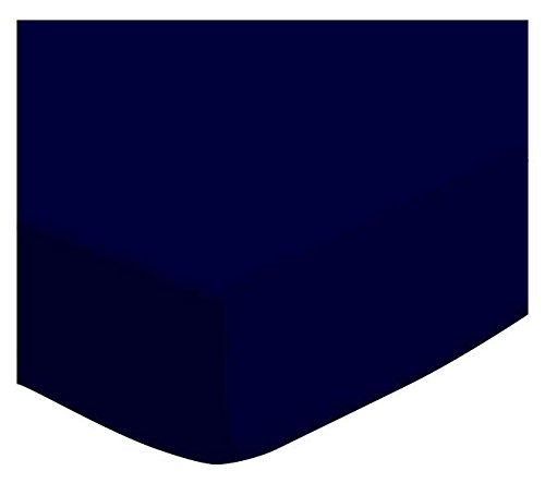 SheetWorld Fitted Cradle Sheet - Solid Navy Jersey Knit - Made In USA
